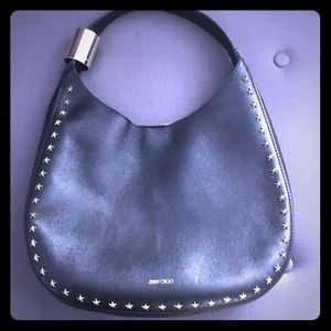 Authentic Jimmy Choo Studded Hobo bag in black